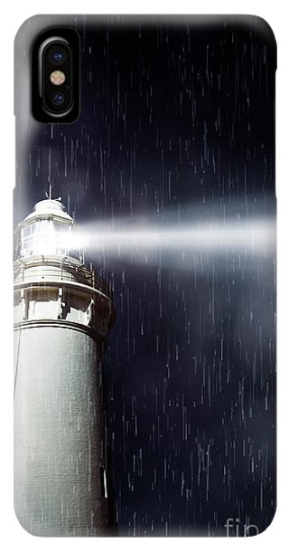 Navigation iPhone XS Max Case - Beaming Lighthouse by Jorgo Photography - Wall Art Gallery
