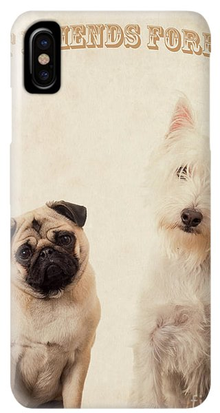Pug iPhone XS Max Case - Best Friends Forever by Edward Fielding