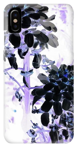 iPhone XS Max Case - Black Blooms I I by Orphelia Aristal