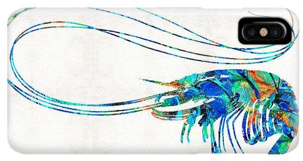 Scuba Diving iPhone XS Max Case - Blue Shrimp Art By Sharon Cummings by Sharon Cummings