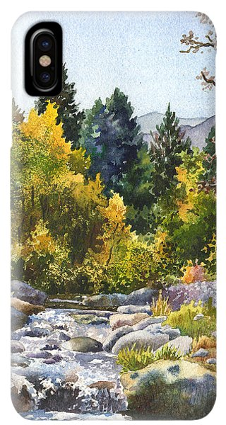 Rocky Mountain iPhone XS Max Case - Creek At Caribou by Anne Gifford