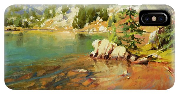 Rocky Mountain iPhone XS Max Case - Crystalline Waters by Steve Henderson