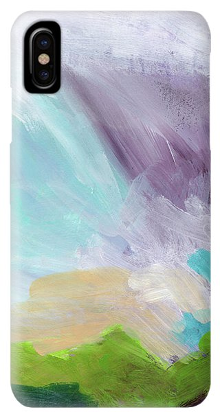 Prayer iPhone XS Max Case - Deepest Breath- Abstract Art By Linda Woods by Linda Woods