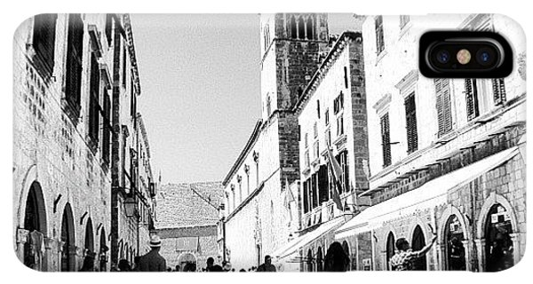 iPhone XS Max Case - #dubrovnik #b&w #edit by Alan Khalfin