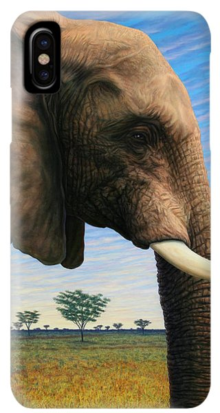 Africa iPhone XS Max Case - Elephant On Safari by James W Johnson