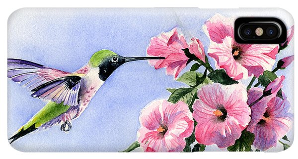 Humming Bird iPhone XS Max Case - Flying Jewel by David Rogers