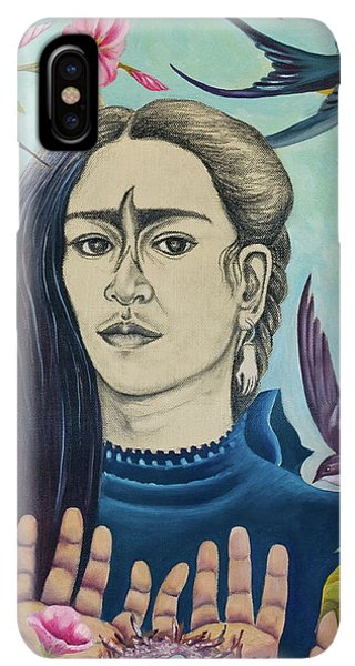 Humming Bird iPhone XS Max Case - For Frida by Sheri Howe