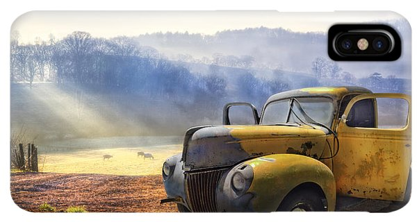 The Sun iPhone XS Max Case - Ford In The Fog by Debra and Dave Vanderlaan