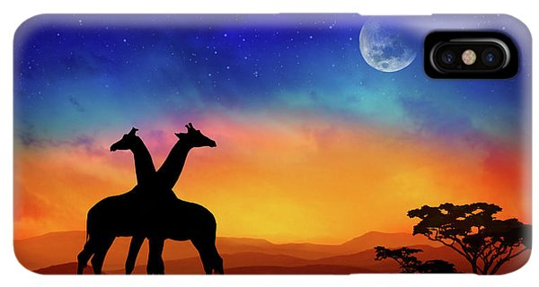 Africa iPhone XS Max Case - Giraffes Can Dance by Iryna Goodall