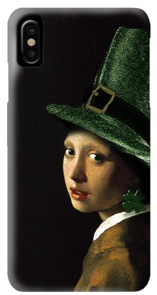 St. Patricks Day iPhone XS Max Case - Girl With A Shamrock Earring by Gravityx9   Designs