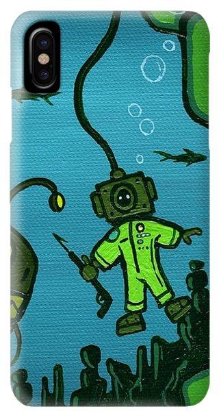 Scuba Diving iPhone XS Max Case - Gone Fish'n by Dan Keough