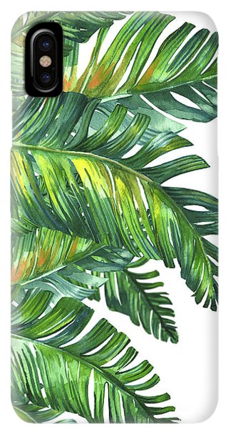 Abstract iPhone XS Max Case - Green Tropic  by Mark Ashkenazi