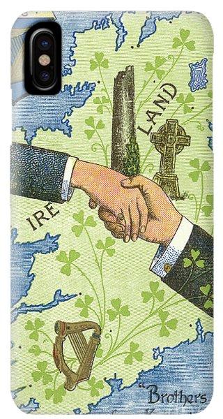 St. Patricks Day iPhone XS Max Case - Hands Shaking Across Ireland by Irish School