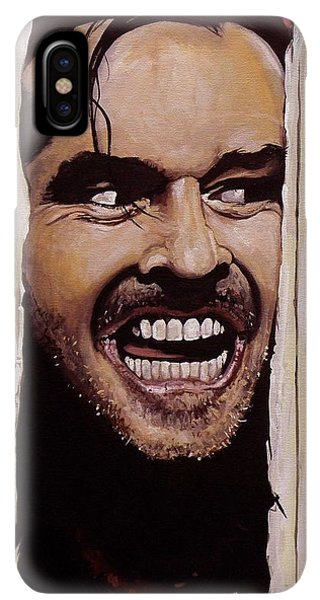 The iPhone XS Max Case - Here's Johnny by Tom Carlton