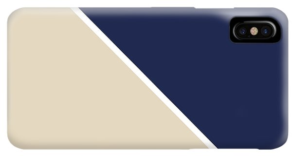 Abstract iPhone XS Max Case - Indigo And Sand Geometric by Linda Woods