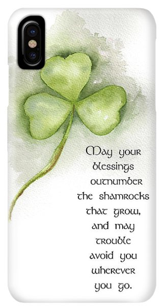 St. Patricks Day iPhone XS Max Case - Irish Blessing by Nancy Ingersoll