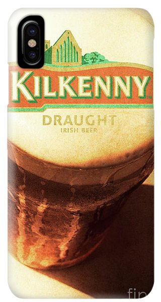 St. Patricks Day iPhone XS Max Case - Kilkenny Draught Irish Beer Rusty Tin Sign by Jorgo Photography - Wall Art Gallery