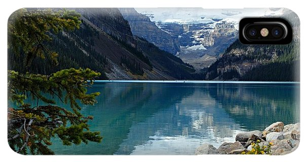 Rocky Mountain iPhone XS Max Case - Lake Louise 2 by Larry Ricker