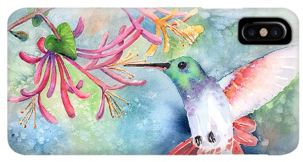 Humming Bird iPhone XS Max Case - Little Hummingbird by Arline Wagner