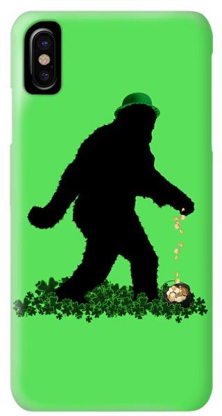 St. Patricks Day iPhone XS Max Case - Lucky Sasquatch by Gravityx9  Designs