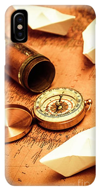 Navigation iPhone XS Max Case - Maps And Bearings by Jorgo Photography - Wall Art Gallery