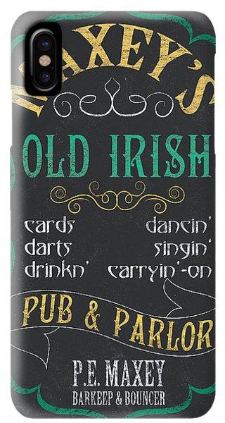 St. Patricks Day iPhone XS Max Case - Maxey's Old Irish Pub by Debbie DeWitt