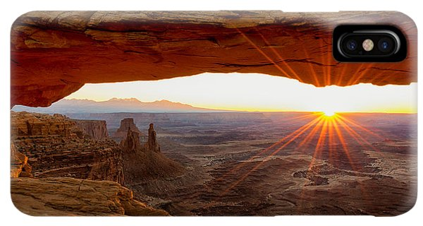 The Sun iPhone XS Max Case - Mesa Arch Sunrise - Canyonlands National Park - Moab Utah by Brian Harig