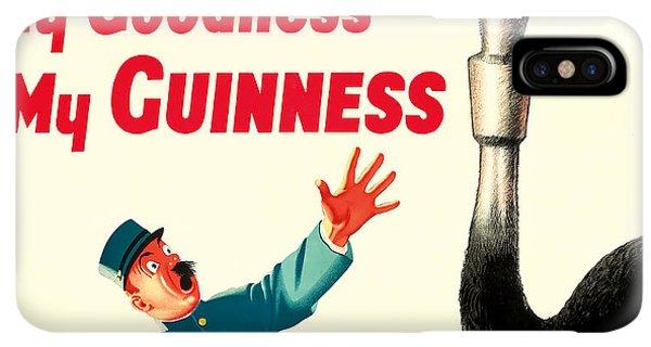 St. Patricks Day iPhone XS Max Case - My Goodness My Guinness by Jon Neidert