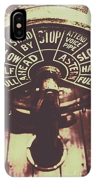Navigation iPhone XS Max Case - Nautical Engine Room Telegraph by Jorgo Photography - Wall Art Gallery