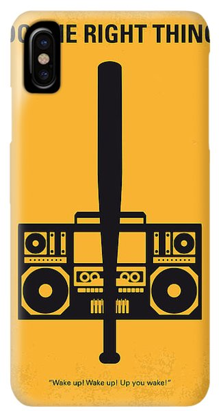 The iPhone XS Max Case - No179 My Do The Right Thing Minimal Movie Poster by Chungkong Art