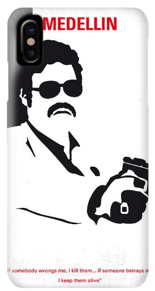 South America iPhone XS Max Case - No526 My Medellin Minimal Movie Poster by Chungkong Art