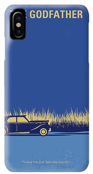 The iPhone XS Max Case - No686-1 My Godfather I Minimal Movie Poster by Chungkong Art