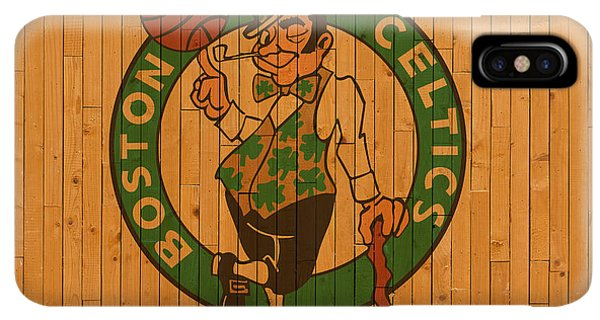 Celtics iPhone XS Max Case - Old Boston Celtics Basketball Gym Floor by Design Turnpike