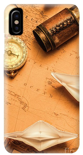 Navigation iPhone XS Max Case - Origami Paper Boats On A Voyage Of Exploration by Jorgo Photography - Wall Art Gallery