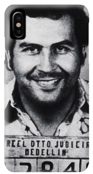 South America iPhone XS Max Case - Pablo Escobar Mug Shot 1991 Vertical by Tony Rubino
