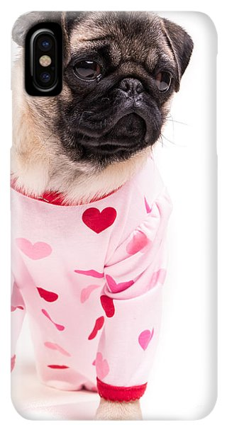 Pug iPhone XS Max Case - Pajama Party by Edward Fielding