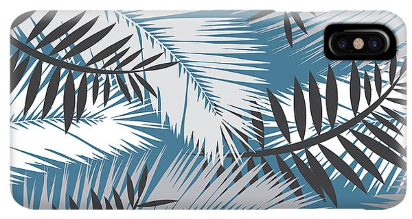 Abstract iPhone XS Max Case - Palm Trees 10 by Mark Ashkenazi
