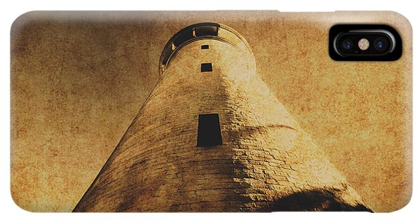 Navigation iPhone XS Max Case - Parchment Paper Lighthouse by Jorgo Photography - Wall Art Gallery