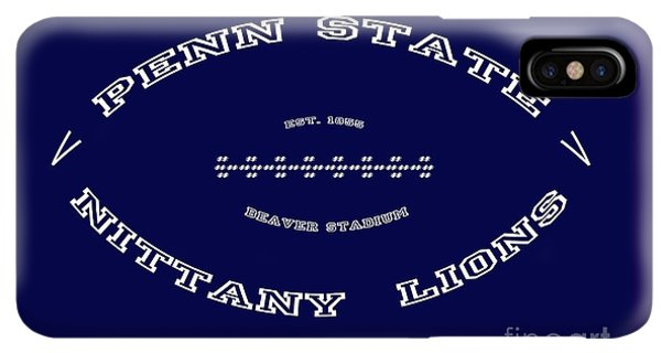 cd0029c29 Pennsylvania State University iPhone XS Max Case - Penn State Nittany Lions  Football Tribute Poster Solid