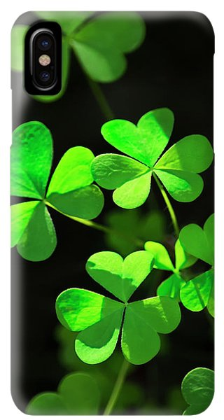 St. Patricks Day iPhone XS Max Case - Perfect Green Shamrock Clovers by Christina Rollo