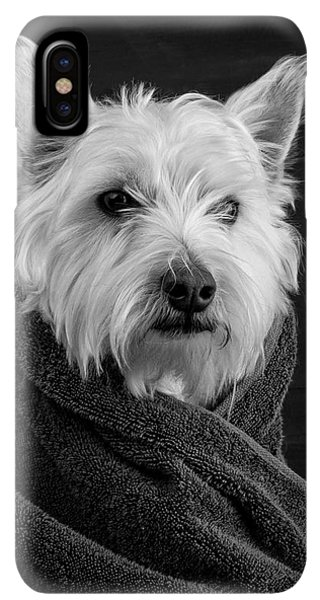Puppies iPhone XS Max Case - Portrait Of A Westie Dog by Edward Fielding