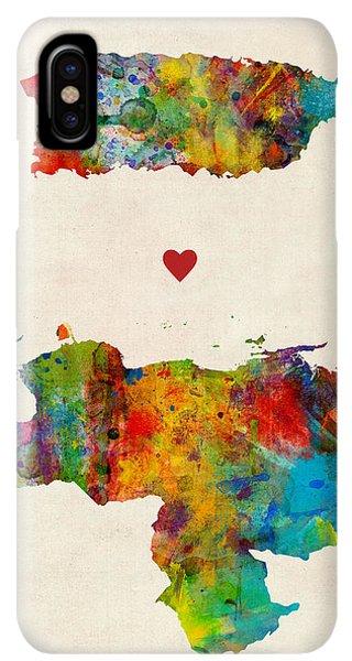South America iPhone XS Max Case - Puerto Rico Venezuela Love by Michael Tompsett