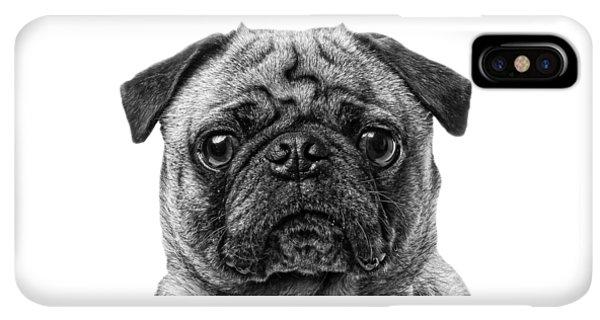 Pug iPhone XS Max Case - Pug T-shirt by Edward Fielding