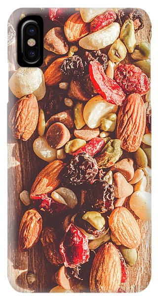 Sunflower Seeds iPhone XS Max Case - Rustic Dried Fruit And Nut Mix by Jorgo Photography - Wall Art Gallery