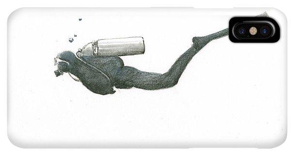 Scuba Diving iPhone XS Max Case - Scuba Diver  by Juan Bosco