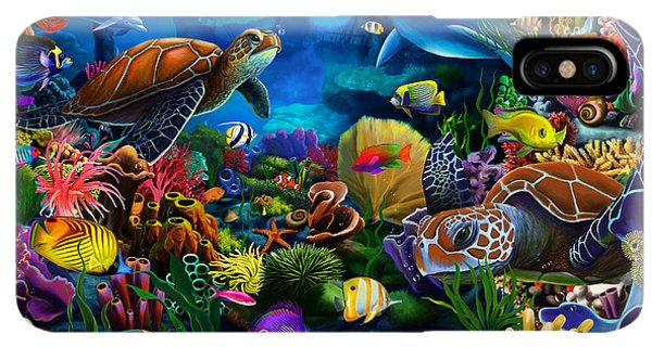 Scuba Diving iPhone XS Max Case - Sea Of Beauty by MGL Meiklejohn Graphics Licensing