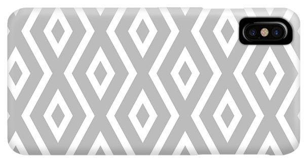 Abstract iPhone XS Max Case - Silver Pattern by Christina Rollo