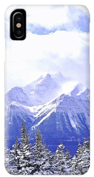 Rocky Mountain iPhone XS Max Case - Snowy Mountain by Elena Elisseeva