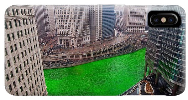 St. Patricks Day iPhone XS Max Case - St Patrick's Day Chicago  by Jeff Lewis