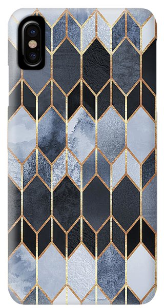 Abstract iPhone XS Max Case - Stained Glass 4 by Elisabeth Fredriksson